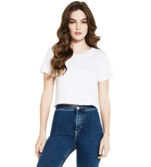 Continental Clothing Women's Cropped Jersey T-Shirt