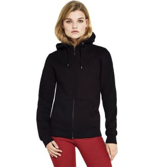 Continental Clothing Women's High Neck Zip-Up Hoody